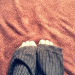 靴下を忘れました…