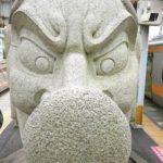 高尾駅 下りホーム 天狗(テング)