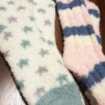 もこもこ靴下が100円ショップで買える時代。
